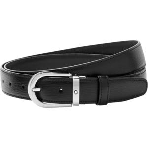 Montblanc Cintura nera elegante su misura