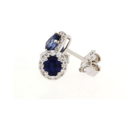 Clesi Gioielli Orecchini con zaffiri 0.89 ct e diamanti 0.23 ct