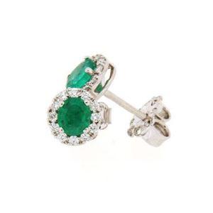 Clesi Gioielli Orecchini con smeraldi 0.64 ct e diamanti 0.23 ct