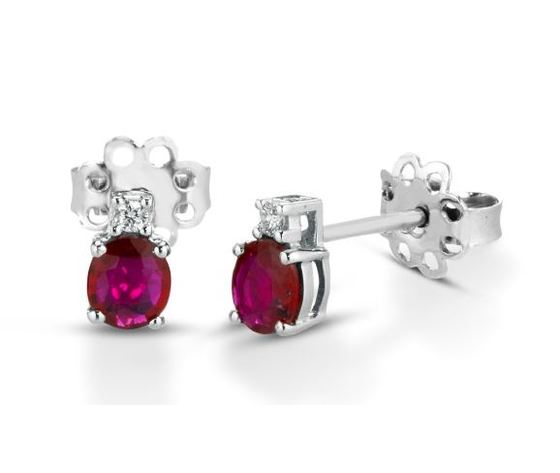 Clesi Gioielli Orecchini con rubini 0.78 ct e diamanti 0.04 ct