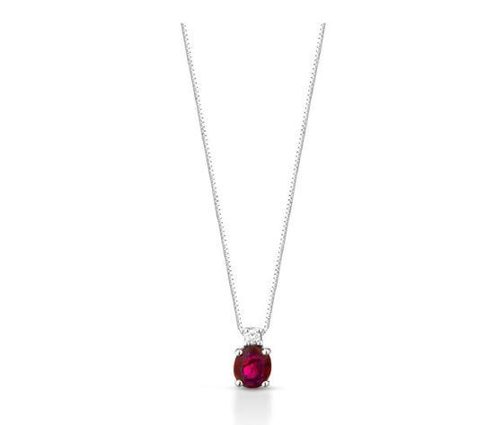 Clesi Gioielli Collana con rubini 0.38 ct e diamanti 0.02 ct