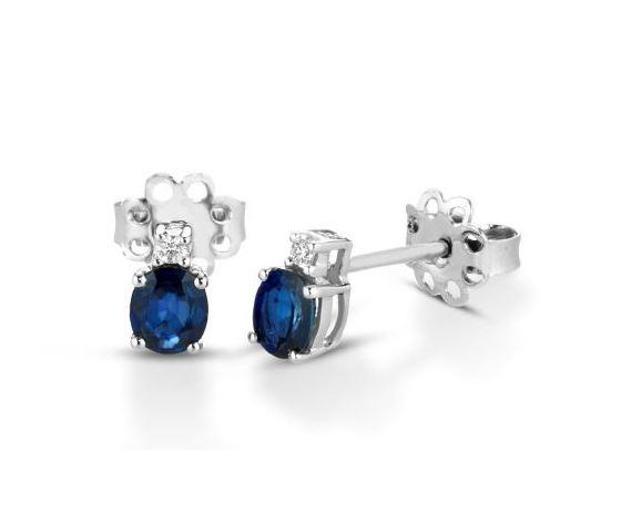 Clesi Gioielli Orecchini con zaffiri 0.84 ct e diamanti 0.04 ct