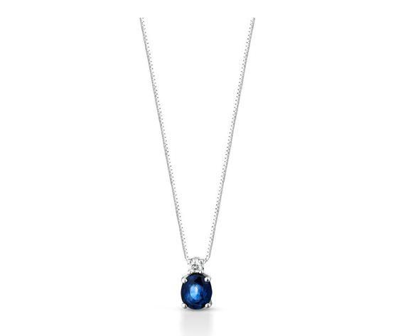 Clesi Gioielli Collana con zaffiri 0.45 ct e diamanti 0.02 ct