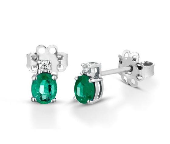 Clesi Gioielli Orecchini con Smeraldi 0.62 ct e Diamanti 0.04 ct