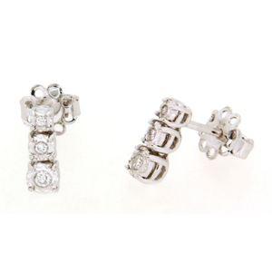 Clesi Gioielli Linea Riflessi Orecchini Trilogy con Diamanti 0.10 ct