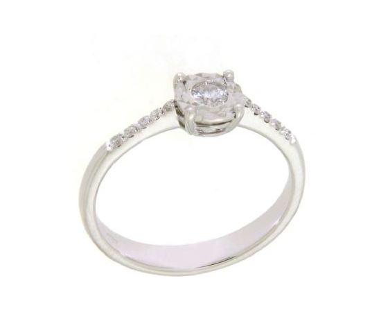 Clesi Gioielli Linea Riflessi Anello Solitario con Diamanti 0.17 ct