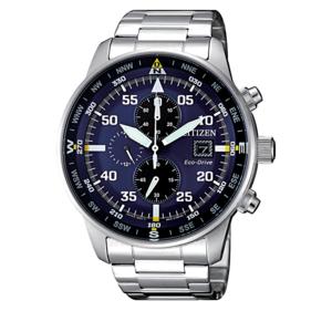 Citizen Eco Drive Orologio per Uomo Crono Aviator Of Collection CA0690-88L