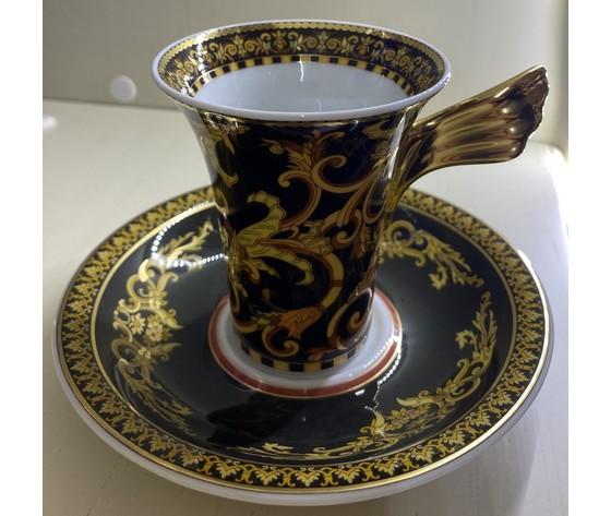 Versace Tazza da caffè Barocco con Piattino Medusa