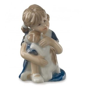 Royal Copenhagen Statuina Elsa con Cagnolino