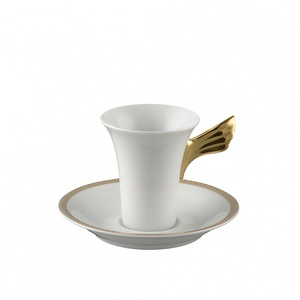 Versace Tazza e piattino Meandre D'Or