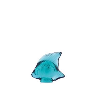 Lalique Scultura di pesce Turchese Chiaro