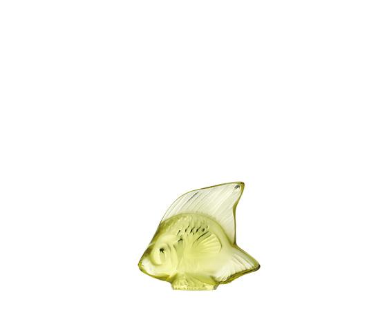 Lalique Scultura di Pesce Giallo Sole