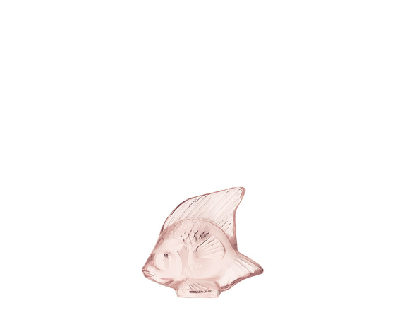 Lalique scultura di pesce Rosa