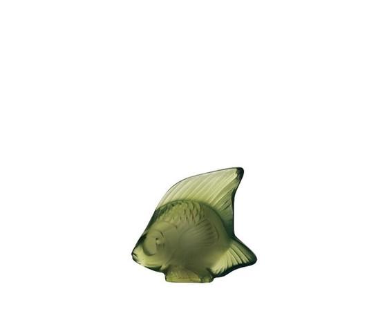 Lalique scultura di pesce Verde