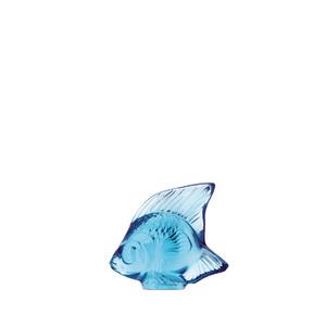 Lalique scultura di pesce azzurro