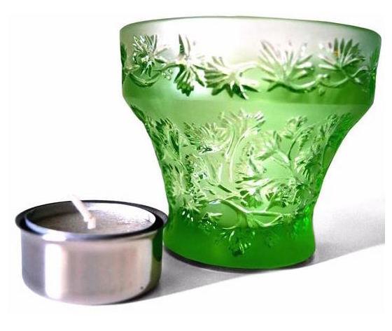 Lalique Tealight  Green