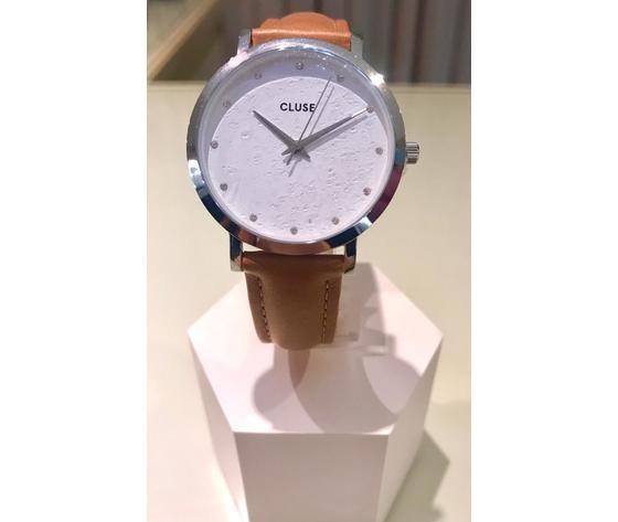 Cluse orologio Pavane argento/caramel