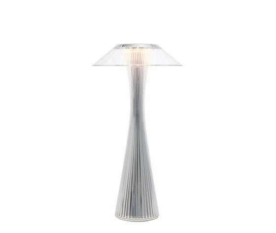 kartell space lampada da tavolo cromata