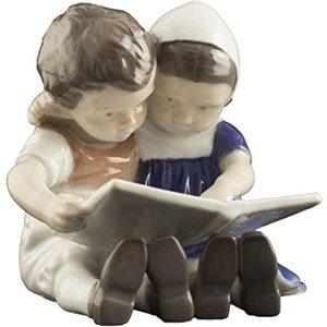 Royal Copenhagen Statuina Bimbi che leggono mini