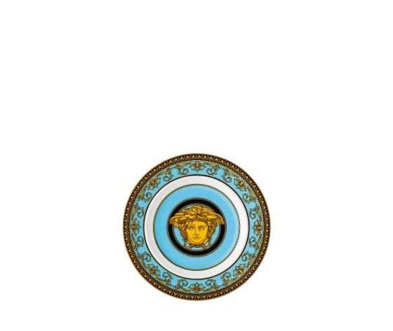 Versace piatto piano medusa celeste 18 cm