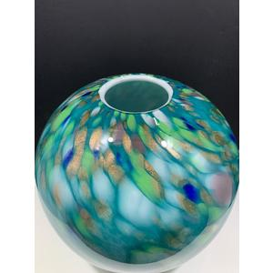 Scherzer vaso in vetro 30 cm azzurro