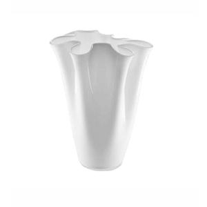 Vaso Wave opale  30 cm bianco