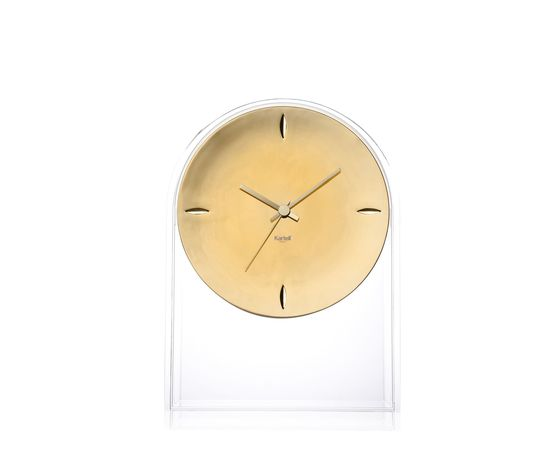 Kartell orologio Air du temps cristallo/oro