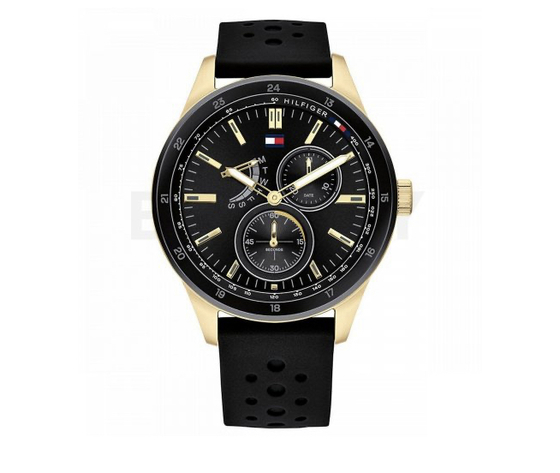 Tommy Hilfiger orologio Austin nero con cinturino in silicone nero