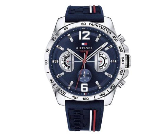 Tommy Hilfiger orologio Decker Blu con cinturino in silicone Blu