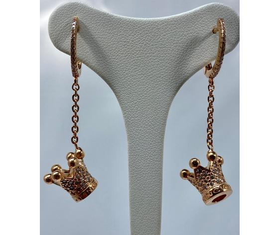 Azhar orecchini principessa con chiusura a campana e catena oro