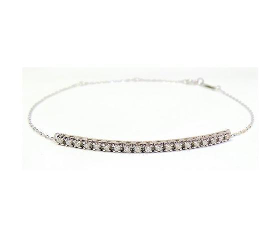 Bibigì tennis con catena in oro bianco con diamanti taglio brillanti varie carature