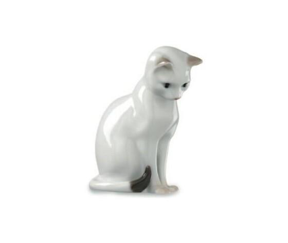 Royal Copenhagen statuina Gatto bianco seduto
