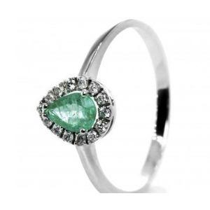 Bibigì anello con smeraldo e diamanti taglio brillante
