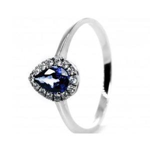 Bibigì anello con zaffiro e diamanti taglio brillante