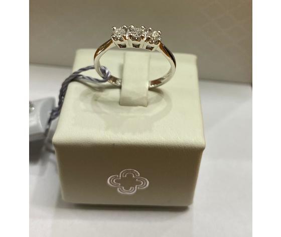 Crusado anello trilogy con diamanti taglio brillanti 0,21 ct