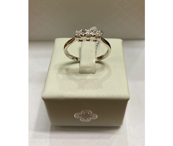 Crusado anello trilogy con diamanti taglio brillanti 0,15 ct