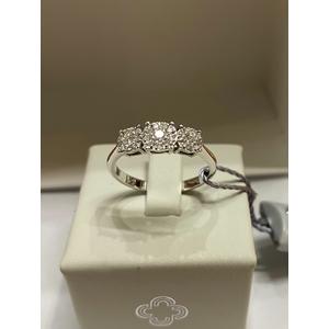 Crusado Anello Trology con diamanti Pavè 0,29 ct
