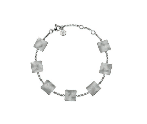 Eclat linea Square bracciale silver in argento 925