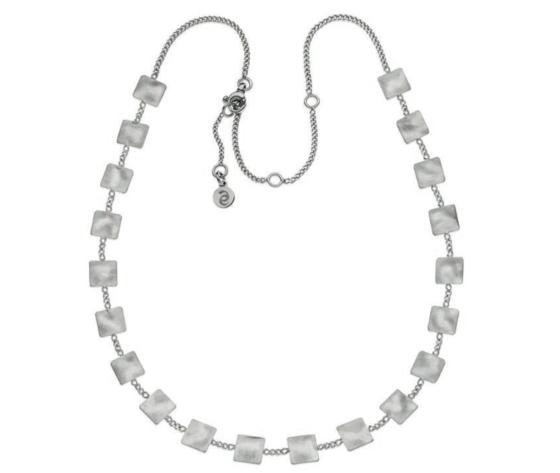 Eclat linea Square collana silver in argento 925