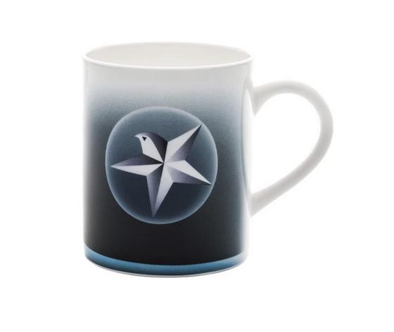 Alessi Blue Christmas Mug in bone china decorata AAA061