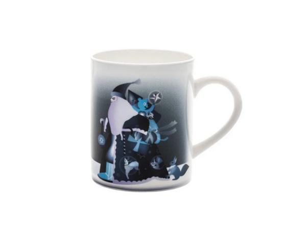 Alessi Blue Christmas Mug in bone china decorata AAA062