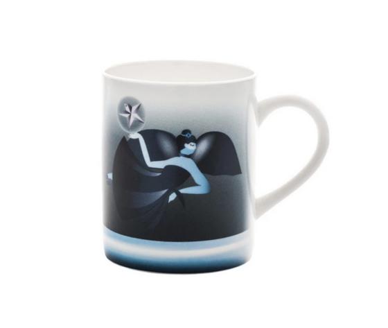 Alessi Blue Christmas Mug in bone china decorata AAA063
