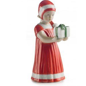 Royal Copenhagen statuina Elsa rossa con regalo mini