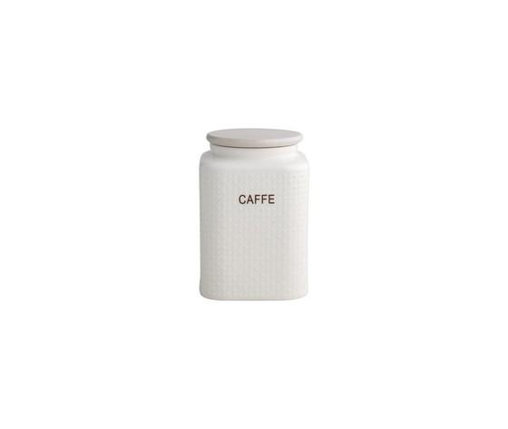 BARATTOLO CAFFE PORCELLANA BIANCA CTAPPO BAMBOO NATURALE