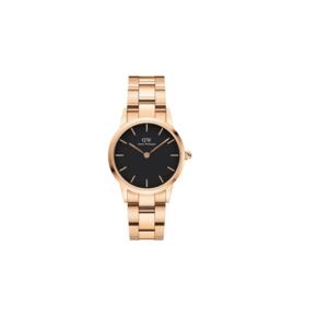 Daniel Wellington orologio Iconic Link quadrante nero e cinturino rosa 28 mm