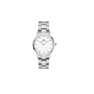 Daniel Wellington orologio Iconic Link bianco e argento 28 mm