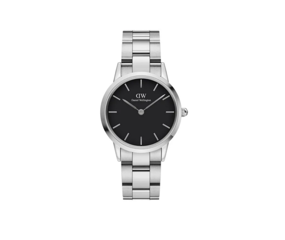 Daniel Wellington orologio Iconic Link nero e argento 32 mm