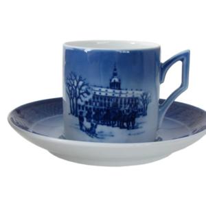 Royal Copenhagen Christmas Cup/Saucer - Tazza con piattino 1995