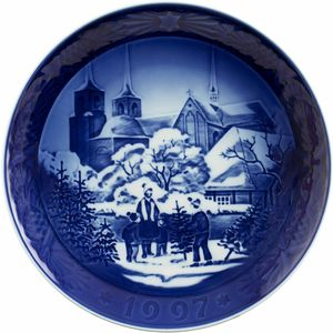 """Royal Copenhagen 1997 Christmas Plate / Piatto Natale 1997 """"Roskilde Cathedral"""""""