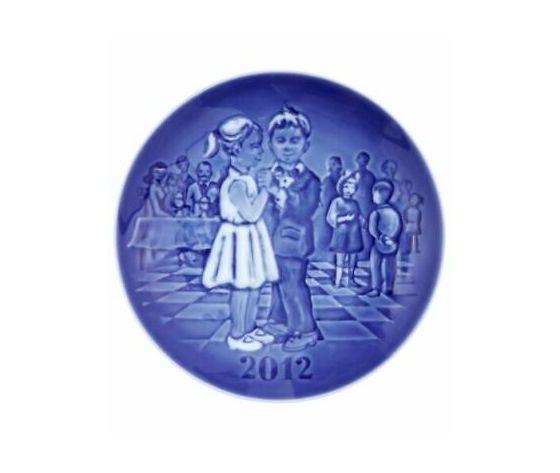 """Royal Copenhagen / Bing & Grøndahl """"Children's Day"""" Plate 2012"""